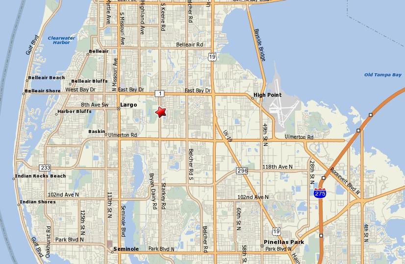 Map Of Pinellas County Florida.Paradise Island Map Page